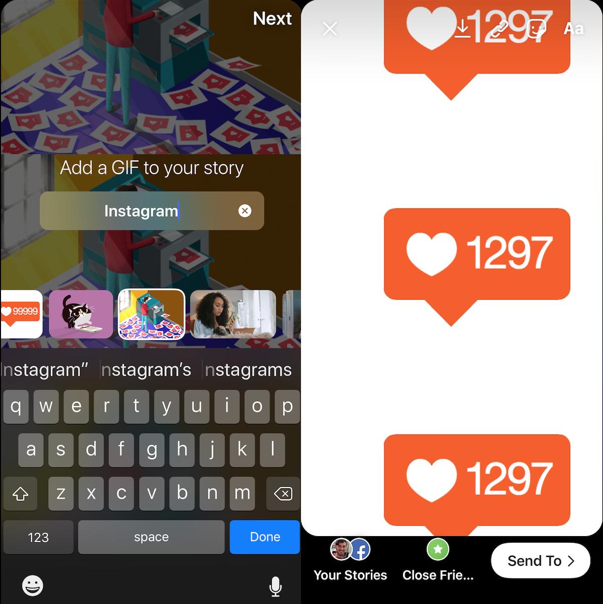 Instagram Create GIFs