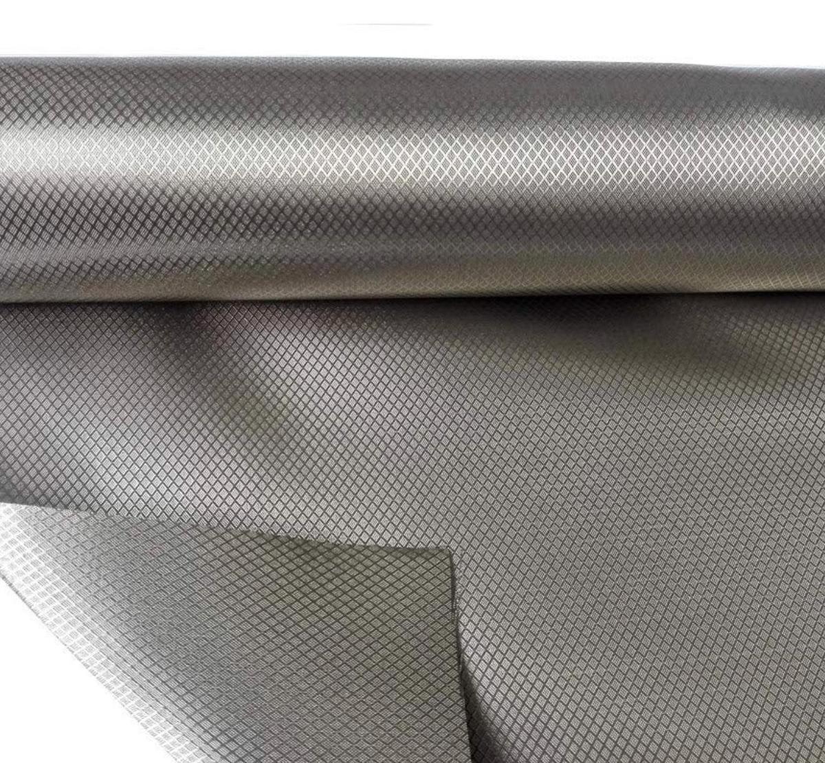 Faraday fabric for EMI/RFID shielding