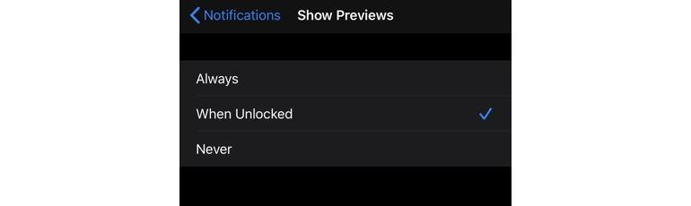 Control notification data leakage