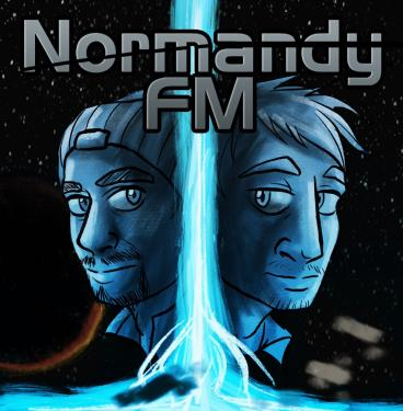 The logo the Normandy FM podcast used during its discussion of all four <em>Mass Effect</em> games