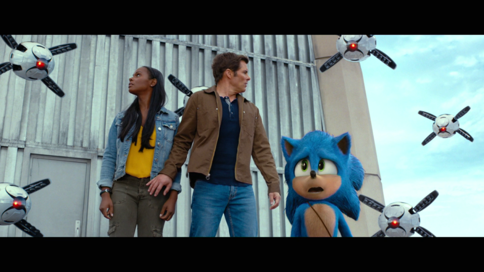 The film's robot designs are just about it for non-Sonic CGI, and they're nothing to shout about.