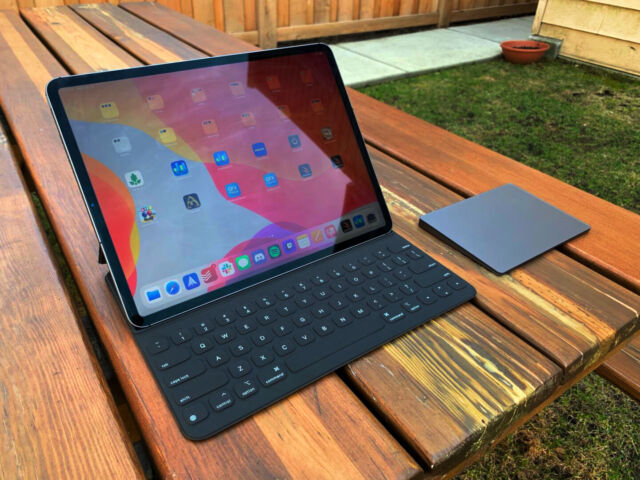 An iPad with the right peripherals can offer a nice escape from your desk.