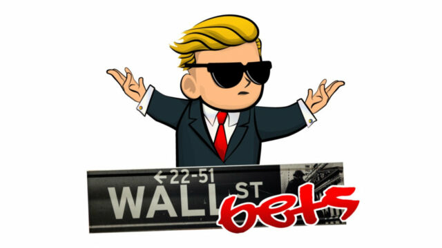 The YOLO-riffic logo for r/WallStreetBets.