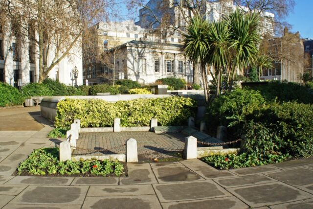 """""""This then is my reward for faithful service!"""" Site of the ancient scaffold at Tower Hill in London where Thomas Cromwell was beheaded in 1540."""