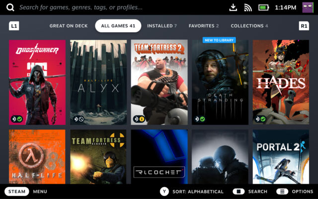 Browsing your Steam Library will make it clear at a glance which of your games are fully Steam Deck compatible.